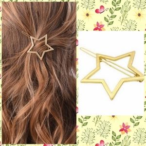 Trendy Gold Star Cutout Hair Clip